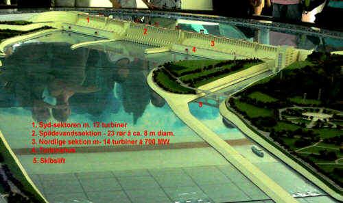 På billedet ses en model af anlægget, der fuldt udbygget får en